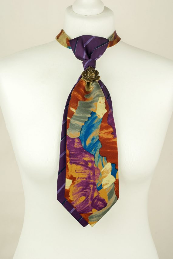 Purple, Abstract, Handcrafted Tie