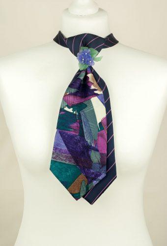 Purple, Striped, Brush Stroke, Unique Tie