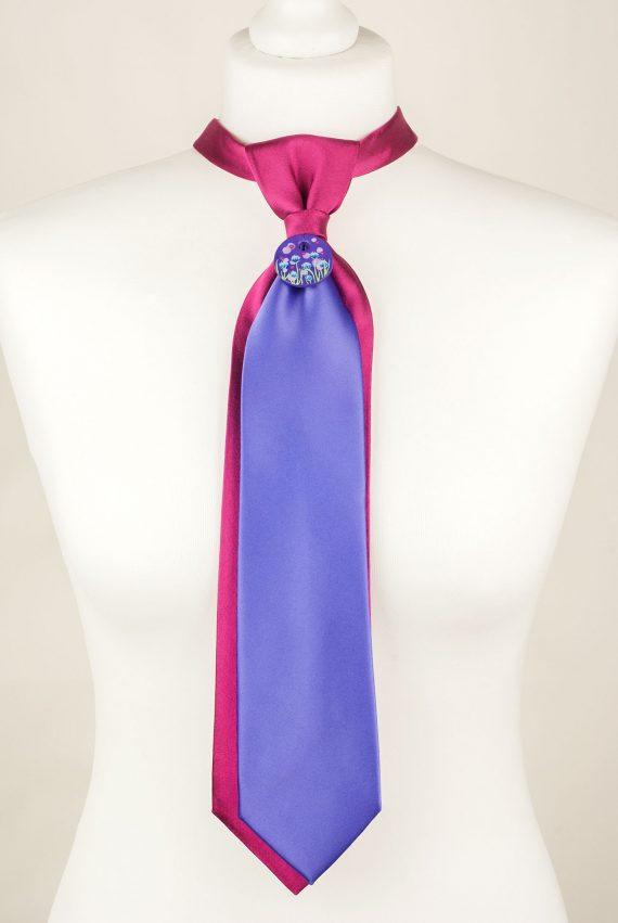 Fuchsia, Purple, Handcrafted Tie