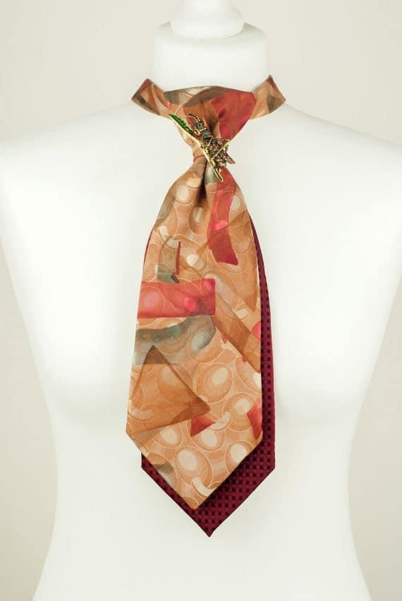 Handmade Tie, Orange Tie, Grasshopper Tie
